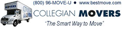 "Bestmove Logo - Collegian Movers ""The Smart Way To Move"" Call 1800-96-Move-U www.bestmove.com"